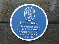 Photo of East Bar blue plaque