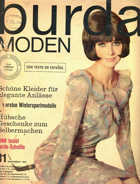 Burda November 1964 German Fashion Magazine Burda Moden