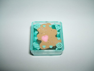 1988 Sanrio Just for Fun Bear Cased eraser