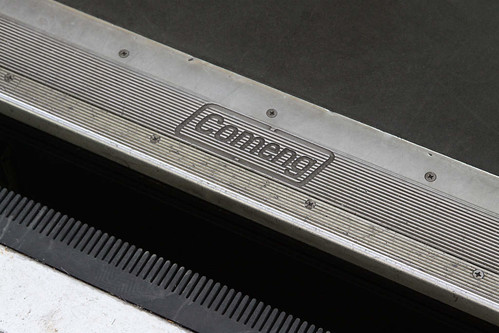 Comeng logo on the doorstop of a Phase 1 LRV
