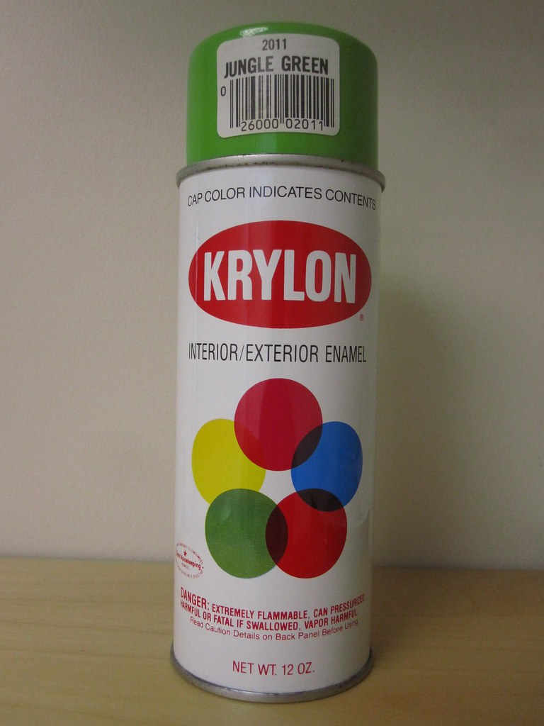 Vintage Krylon 2011 Jungle Green Spray Paint A Photo On Flickriver
