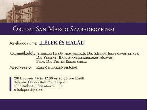 San Marco Szabadegyetem: Lélek és halál