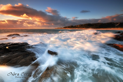 sunset seascape waves slow australia shutter margaretriver westernaustralia nikond90 noracarol cokingndfilters lpseascape rockyforeground
