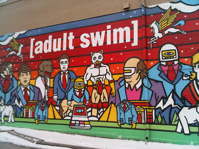 Adult swim mural in chicago flickr photo sharing for Chicago mural group