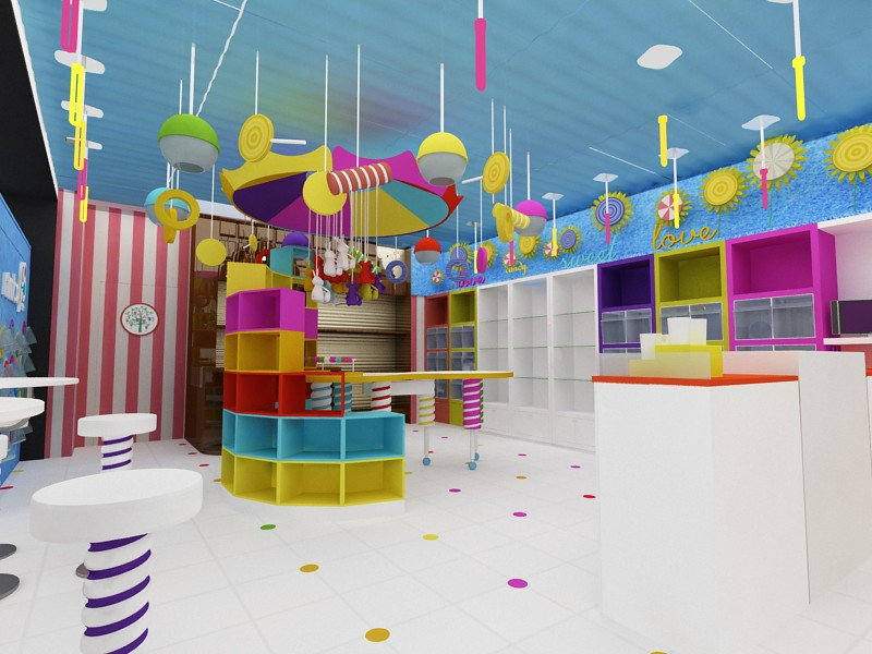 Tienda de Dulces y Regalos. Diseño de Tiendas
