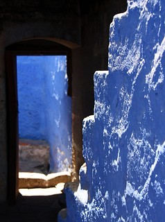 more Santa Catalina blues, walls, stairs,door,...