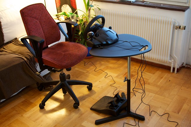 Daniel Kennett - Cheaply Mounting a Gaming Steering Wheel
