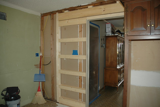 installing the new pocket door