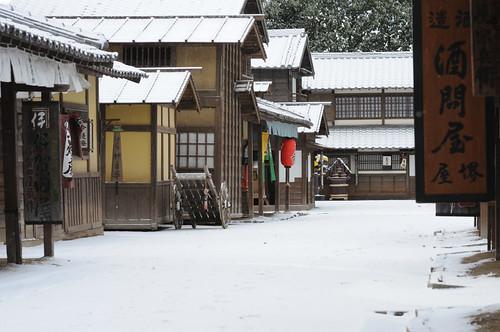 Toei Kyoto Studio Park - snow by Jidaigeki Renaissance Project
