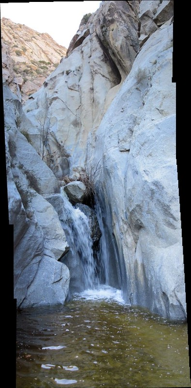Waterfall vertical panorama