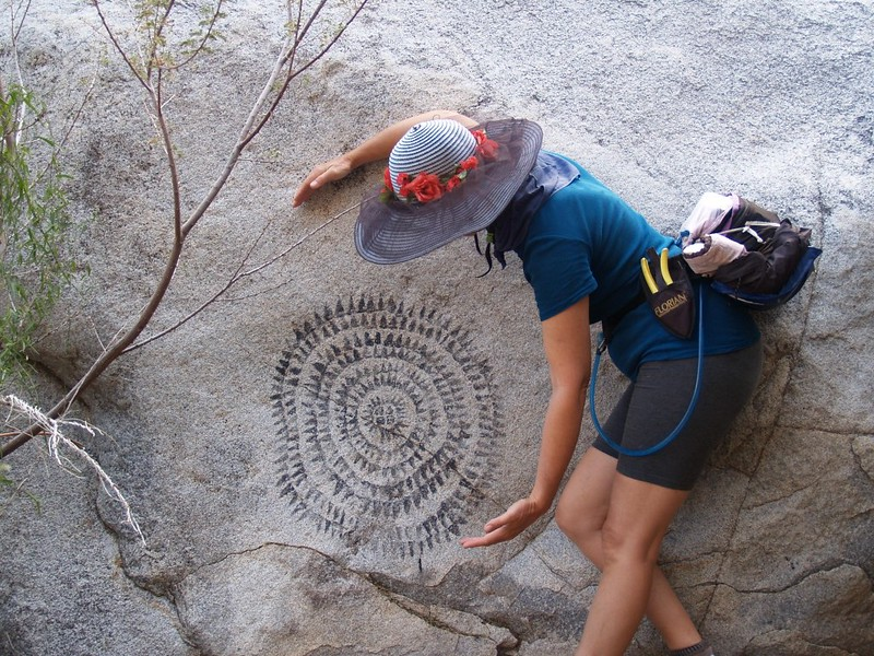 Indian pictograph in Cougar Canyon
