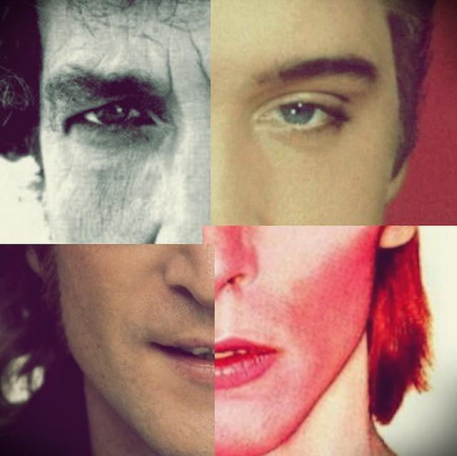 Famous singers face composition