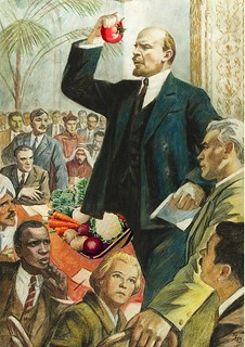 Lenin addressing the International Vegetarian Union, courtesy Mike Licht