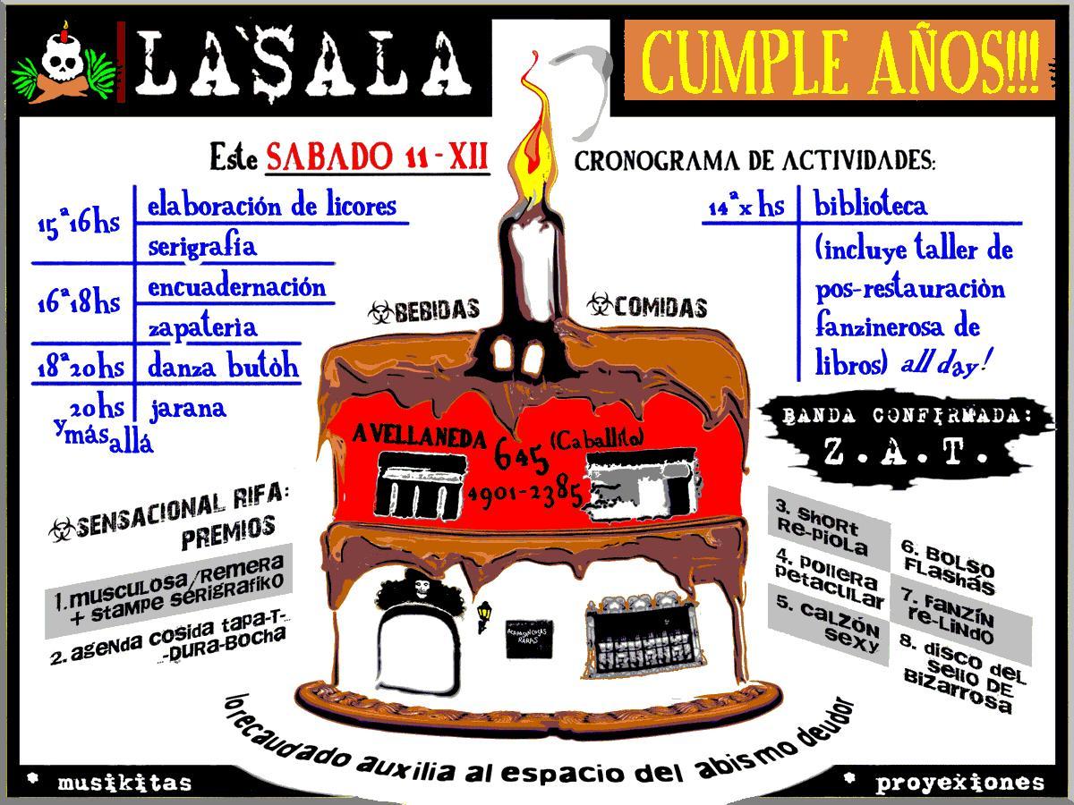 LA$ALA CUMPLE AÑOS | SÁB-11-XII