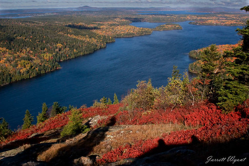 Long Pond from Beech Mountain - Acadia National Park, Maine