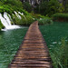 Wooden path through Plitvice lakes