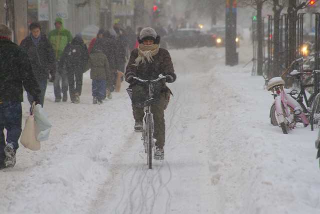 Snowstorm Warm - Winter Cycling in Copenhagen