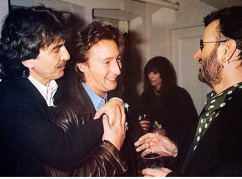 George Harrison Julian Lennon And Ringo Starr