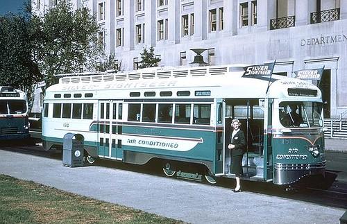 DC Transit Silver Sightseer streetcar