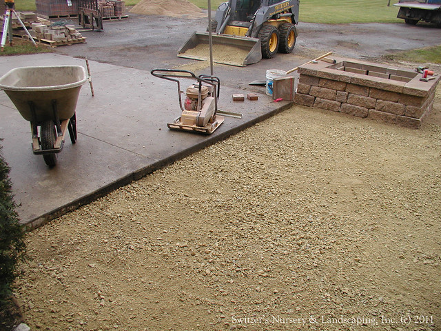 Paver Patio Front Entry Chrushed Limestone Patio Base Flickr