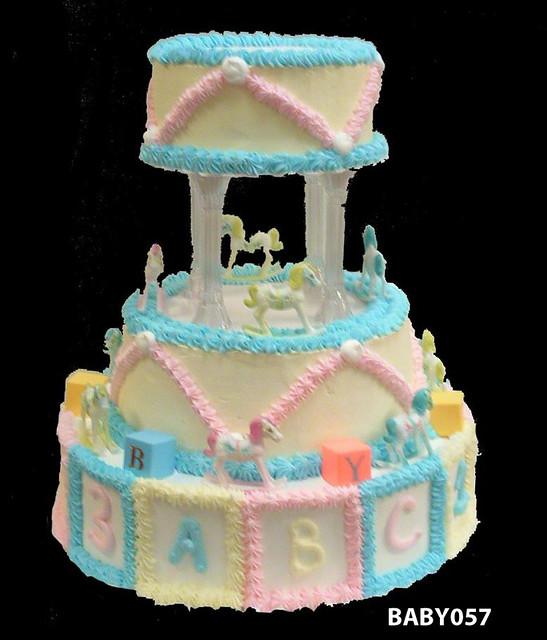BABY057 baby shower tier cake 57