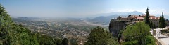 View from Monastery of St Stephanus Convents Meteora