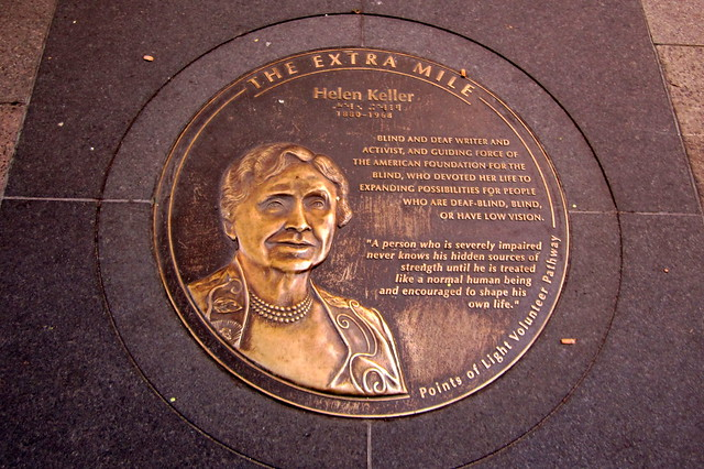 Washington DC: Extra Mile - Helen Keller