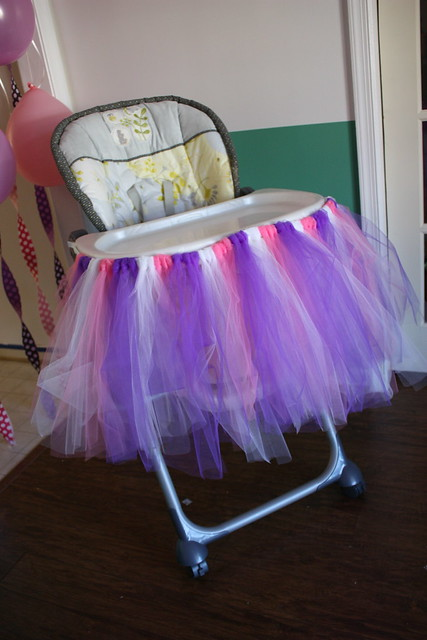 tulle high chair skirt made this high chair a