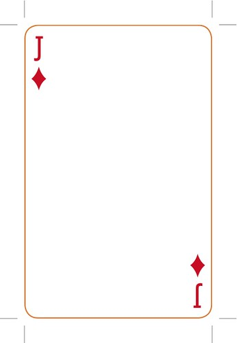 Custom Card Template  Blank Playing Cards Template  Free Card