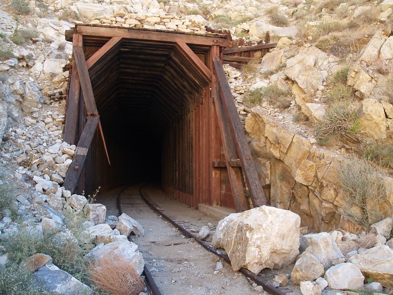 Tunnel 17 and some rockfall which blocked the track and damaged the outer timber.