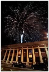 Christmas fireworks downtown