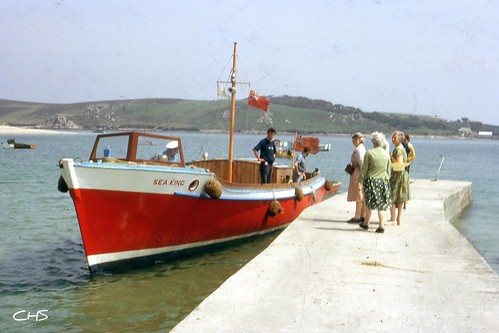 Sea King, passenger ferry serving the Isles of Scilly in 1965 by Stocker Images