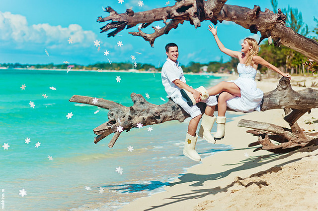 Destination wedding in Negril, Jamaica