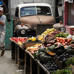 Vegetable Stand in Old Town Montevideo, Uruguay