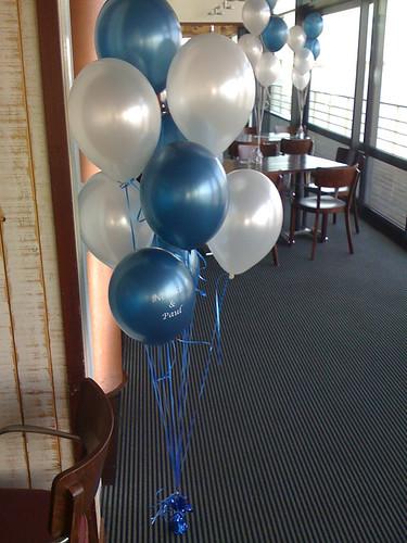 Tafeldecoratie 9ballonnen Delta Hotel Vlaardingen
