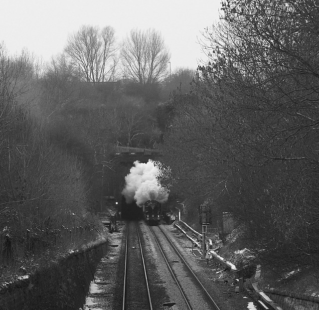 5043 emerging from Claycross Tunnel