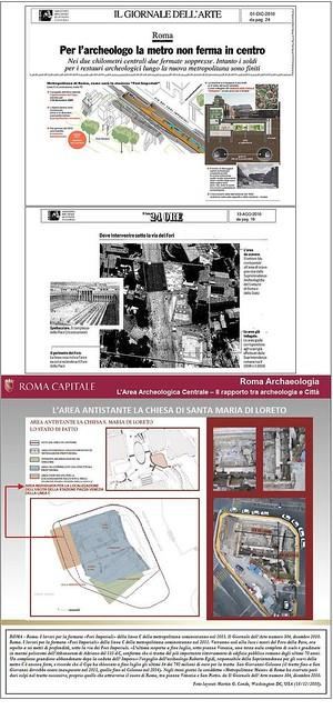 ROMA - [Part. 2]  - I lavori per la fermata «Fori Imperiali» della linea C della metropolitana cominceranno nel 2011. Il Giornale dell'Arte numero 304, dicembre 2010.