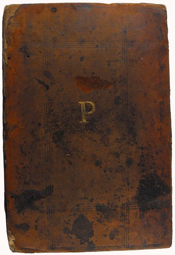 Binding stamped with initials of Guillaume Prousteau from Ammianus Marcellinus: Historiae, libri XIV-XXVI