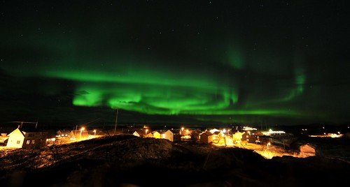 Northern lights in Helligvær