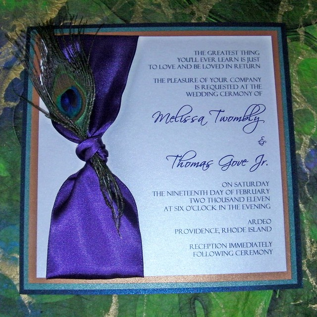 Peacock Wedding Invitations Kit as awesome invitations design