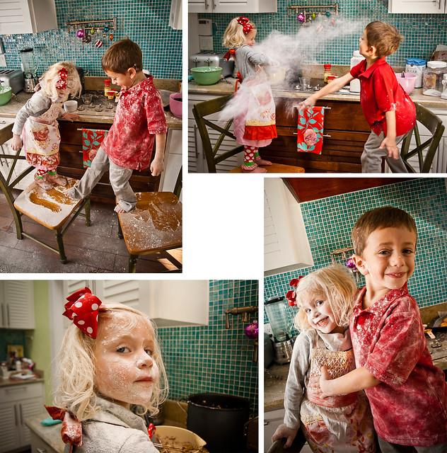 River Photo Shoot Ideas: Christmas Baking Photoshoot