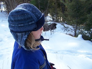 "Felted Sweater Warm Fuzzies ""Bomber Hat"""