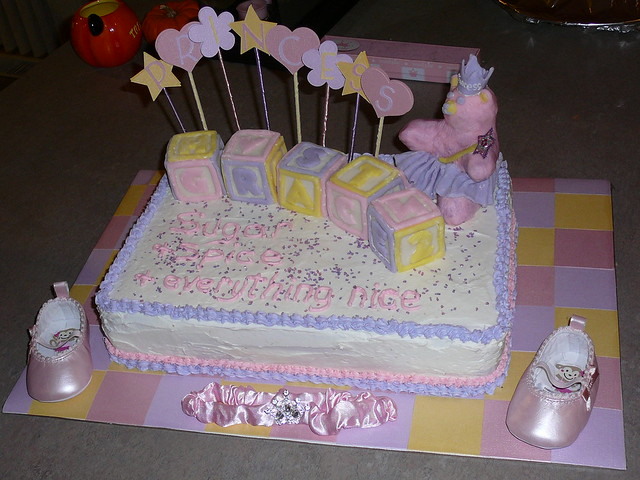 princess baby shower themed cake flickr photo sharing