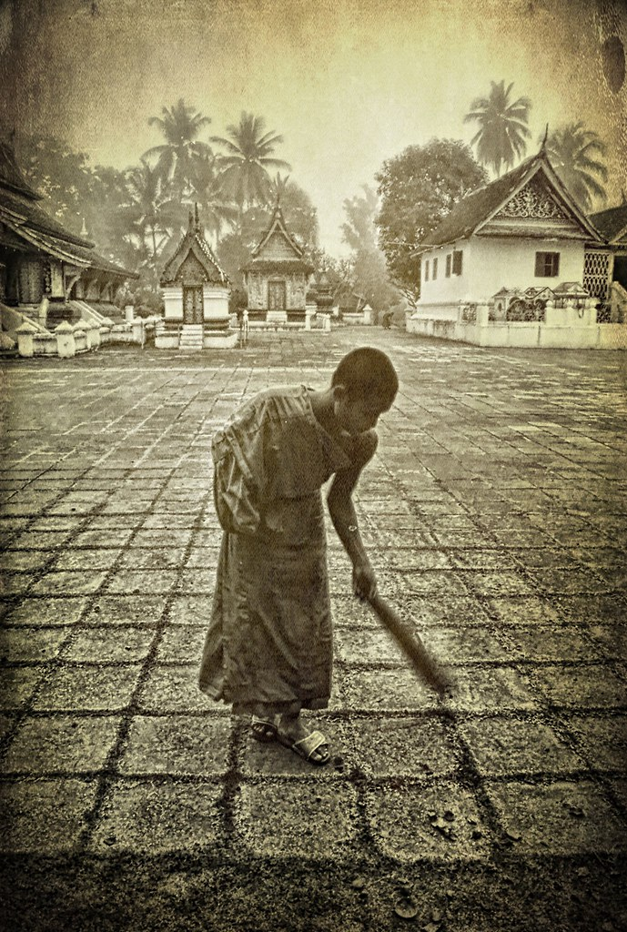 Buddhist monk . Laos