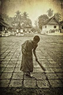 Buddhist monk . Laos