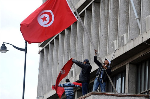 Tunisian workers and youth began to seize government buildings on Jan. 14, 2011 in a bid to force the western-backed regime of President Ben Ali to resign. Ben Ali fled the country leaving Prime Minister Mohammed Ghannouchi in charge. by Pan-African News Wire File Photos