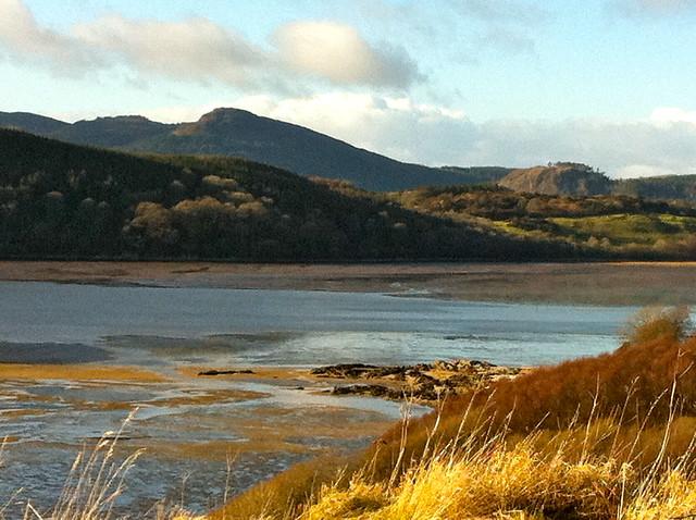 January view across the bay at Rockcliffe towards Kippford