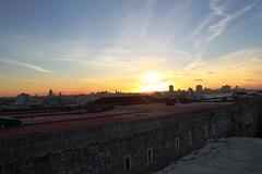 Pôr do sol em Havana