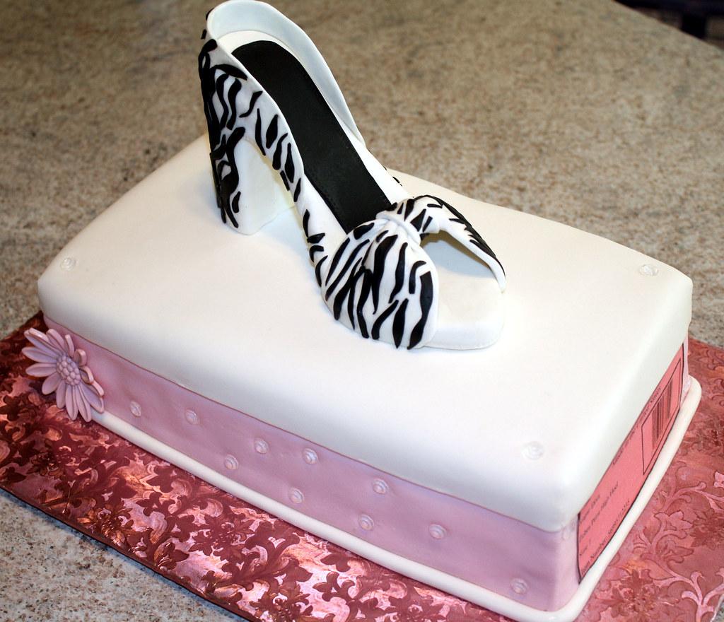 Hatbox Cake W Gumpaste Zebra Print High Heel A Photo On Flickriver
