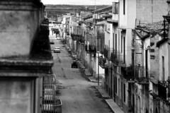 Menfi, via Garibaldi, verso Castelvetrano 1983